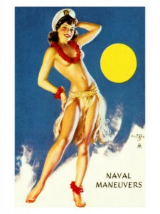 Pin Up Navy Girl