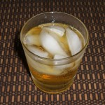 The Glenlivet, on the rocks with a splash in a vintage rocks glass
