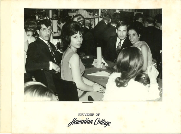 The Hawaiian Cottage, 1963. On right, Charlie & Sabina Pinto. On left, Charlie Porco & Connie Petroni