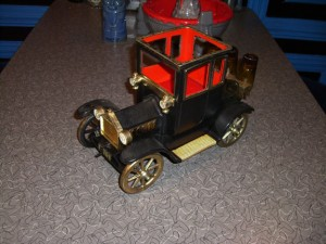 Bar Car Model T Ford Coupe. This is a newer (70's) model with plastic fenders.