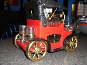 Bar Car Tin Lizzie (Model T Ford). Note the steel wheels.