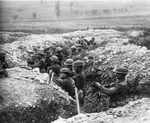 WWI Trench Warfare.