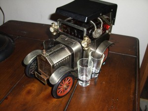 Bar Car 1918 Model T Ford Sedan. Top of the line tabletop bar in the 50's, 60's & 70's.