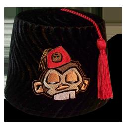 Coconut Monkey Fez by Fez-o-rama