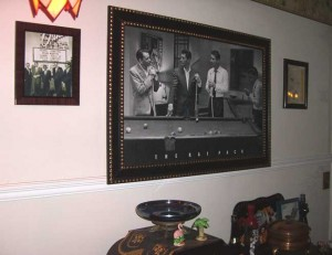 Our Rat Pack Wall in the Dining Room