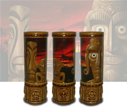 Sunset Tiki Mugs with 4-Color Imaging