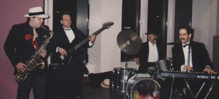 Playing a party in Atlantic City with Tony Deluca, 1990