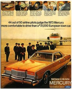 1973 Mercury Grand Marquis. My grandfather had one of these in burgundy. It was his pride and joy.