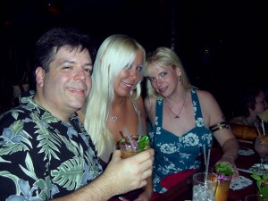 Me, our friend Molly and my wife Colleen at the Mai Kai Saturday Night.