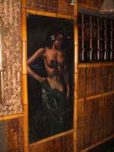 One of the vintage paintings at the Mai Kai