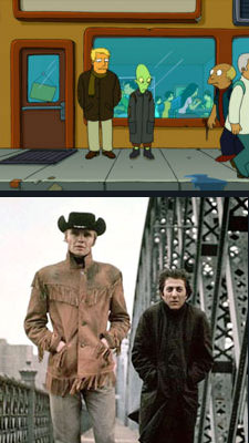 Midnight Cowboy Parodied in Futurama