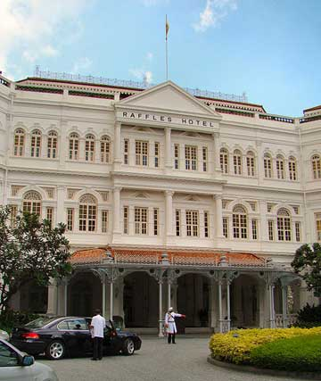 The Raffels Hotel in Singapore, Birthplace of the Singapore Sling
