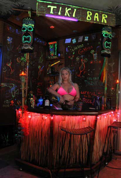 At the Tiki Bar...