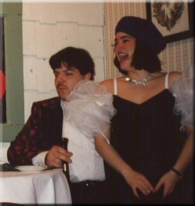 """Tiki"" Chris Pinto and Jeannette Pereda in ""One Crazy Mystery"", Stardust Productions, 1995"