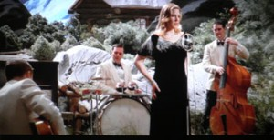 Diana Krall steals a scene with only a few seconds of on-camera time. She should have been given a LOT more.