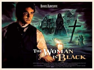 "One of the posters for ""The Woman in Black"". If this doesn't look like a 1950's Hammer movie poster, I don't know what does."