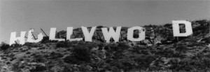 Hollywood Sign, late 1960s. Yes, this really happened.