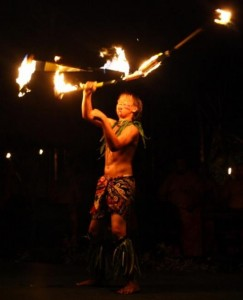 Preston Weber performing his FireKnife routine.