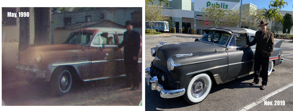 1953 Chevy Belair hot rod Star Dust 1990 vs 2019